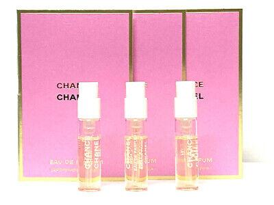 3x CHANEL CHANCE EDP Spray Perfume Samples 0.05oz / 1.5ml EACH NEW
