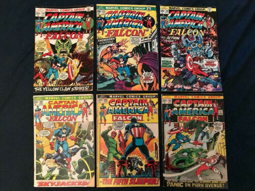 CAPTAIN AMERICA Bronze Age lot of 6 comics: #145,148,151,165,175,190: VG-