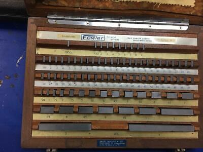 Fowler 82 Pcs Tungsten Carbide Rectangular Gage Block Set