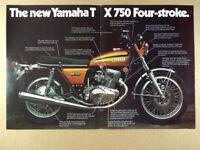 VINTAGE YAMAHA TX500 MOTORCYCLE BANNER