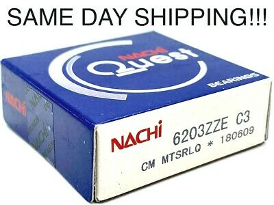 Ball Bearing 6203zze C3 Nachi Japan 6203-zz Metal Shield 6203-2z Bearings 6203zz