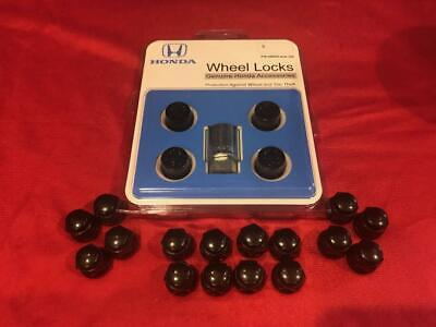 GENUINE HONDA BLACK LUG NUTS 08W42-S2A-100 WHEEL LOCKS JDM OEM CIVIC S2000