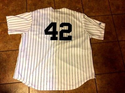 f0e9a1e9a New York Yankees Adult XXL  42 Button Up Jersey by Majestic