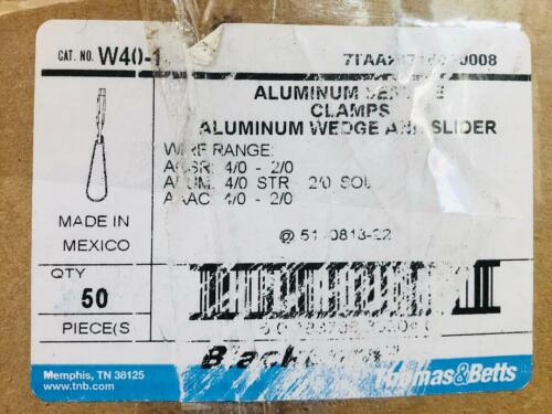 Blackburn, T & B W40-1 Service Aluminum Wedge Clamps Box 50