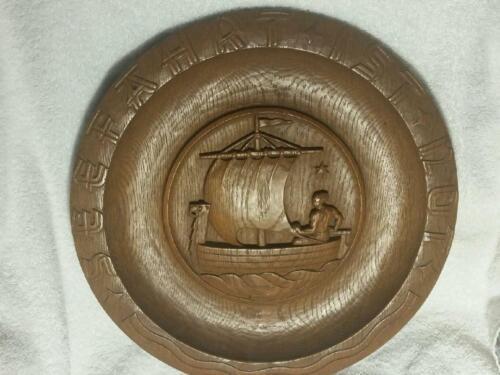 German Elite 1938 Plate Oak Hand carved Sports Award Platter, ONE OF A KIND!!!