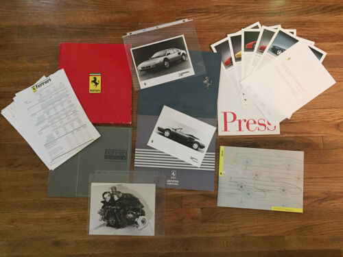 Various Ferrari Brochures Press Media Kits