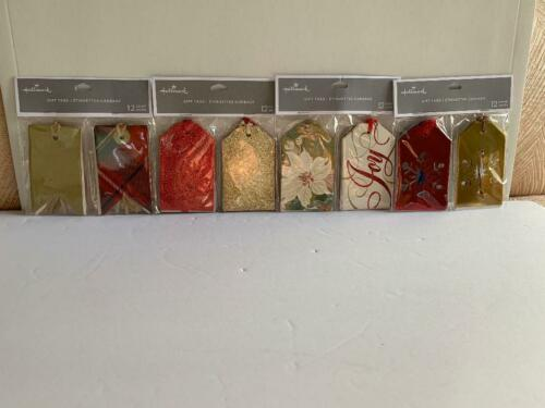 Hallmark Christmas Gift Tags - Lot of 4 packs- 48 units in total