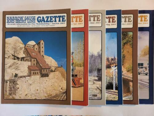 NARROW GAUGE AND SHORT LINE GAZETTE MAGAZINE - 2003 Complete Year (6 Issues)