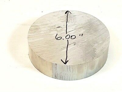 6 Aluminum 6061 Round Rod 1.50 Long T6511 6.00 Diameter Solid Bar Stock