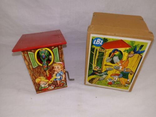 1960 LBZ BIRDHOUSE BANK Near Mint in Original Box BEAUTIFUL WORKING CONDITION