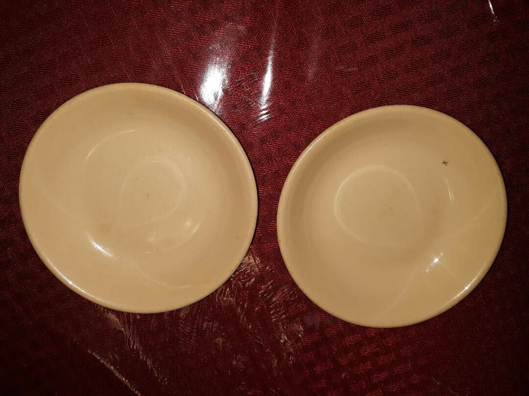 2 Inca Ware Butter Pat Bowls Dishes - Shenango China - New Castle, PA, Cool Logo - $4.49