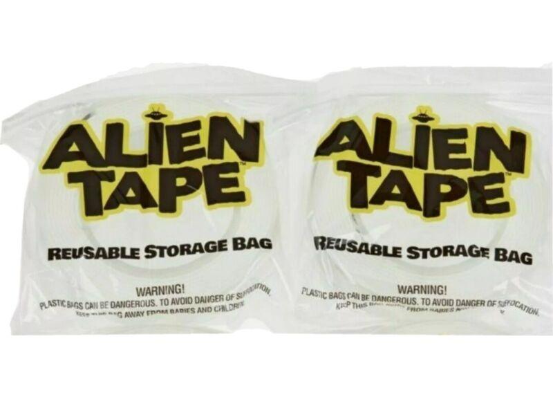 Alien Tape 2-Pack 10 Ft. Rolls Multi-Functional Reusable Double-Sided Tape-NEW