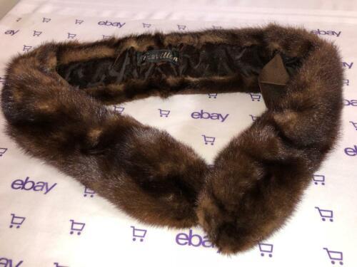 VTG Revillon Genuine Mink Fur Stole Collar