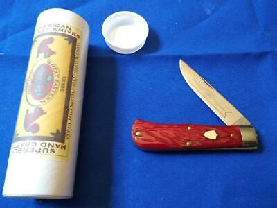 GREAT EASTERN CUTLERY #73 RUBY RED TRAPPER KNIFE