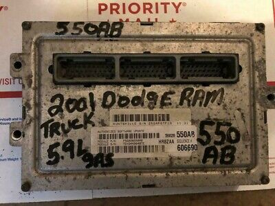 2001 01 Dodge RAM TRUCK 5.9L V8 GAS Engine Computer ECM ECU PCM 56028550AB 550
