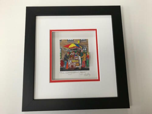 """John Suchy 3 D Artwork """" Mustard & Onions Please """" Signed & Numbered Like Rizzi"""