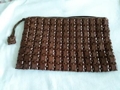 40's retro chic Plasticflex PURSE Clutch BAG zipper closing FUN Vintage HANDBAG