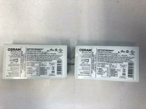 2 PIECES OSRAM SYLVANIA 57348 OTI25W/120-277/1A2/DIM-1/J 25 WATT LED DRIVER