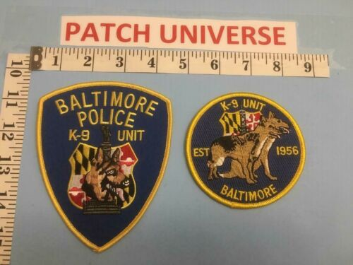 LOT OF 2  DIFFERENT BALTIMORE  K-9  SHOULDER PATCHES  C111