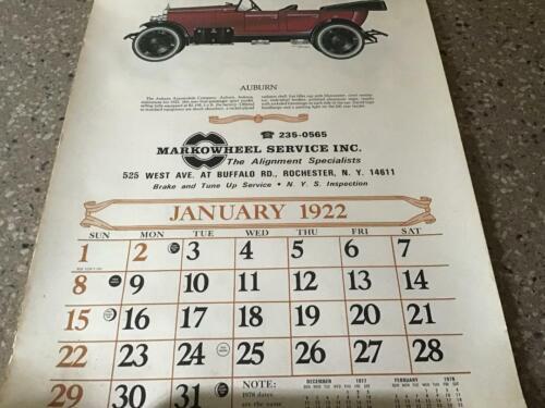 1922 Reproduction Calendar (1978)
