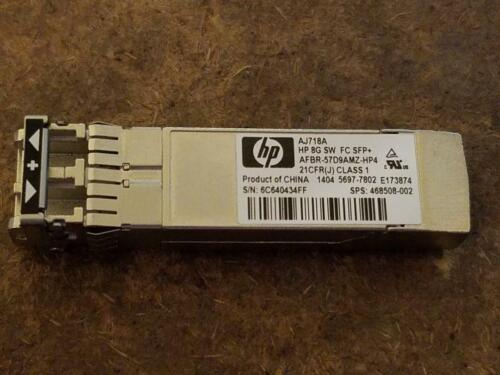 Hp Aj718a 8gb Sw Fc Sfp+ Transceiver 468508-002 Fiber Channel, Fast Us Seller