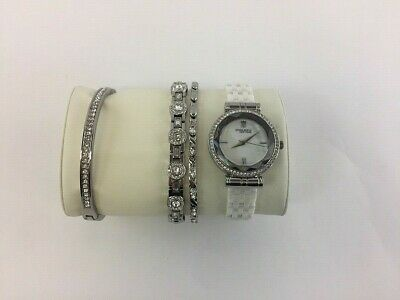 Anne Klein New York Ceramic Bracelet Watch Set 12/2317WTST