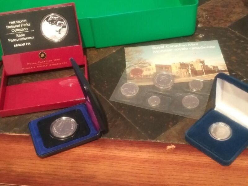 Canadian silver proof coin lot