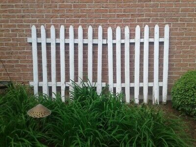 White Picket Fence - Wood, - Picket Fence Decor