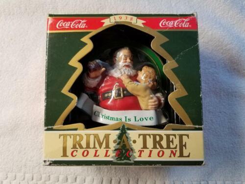 "Coca Cola Coke ""CHRISTMAS IS LOVE"" Christmas Ornament w/Box - 1990"