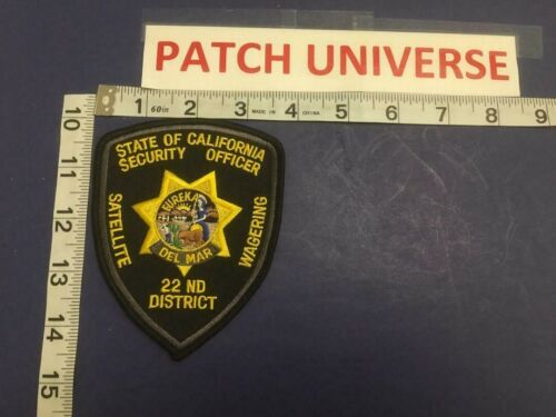 STATE OF CALIFORNIA SECURITY OFFICER 22 ND DIST SHOULDER PATCH         D060