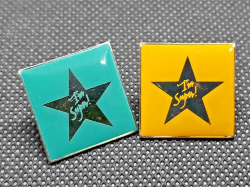 Lot of 2 McDonalds Staff Crew Employee Im a Super Star Pin ~ Ships FREE