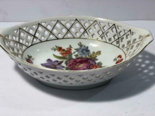 HANDPAINTED  SERVING BOWL MADE IN OCCUPIED JAPAN between 1945-1951 -