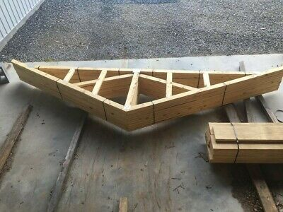 Wood Roof Trusses - Newly Constructed Perfect For Small Garage Or Shed 14ft Span