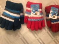 new toddlers  boy and girls  colorful  fashion gloves lot of 2  pairs