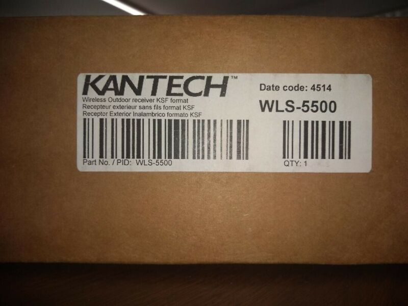 Kantech WLS-5500 Wireless Outdoor receiver KSF format