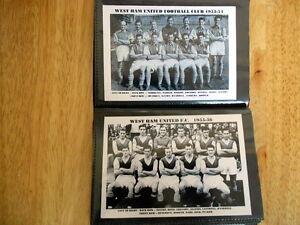 WEST HAM UNITED FOOTBALL CLUB Photo Album (1950's)