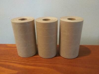 3-rolls 3.00 X 25 Gummed Reinforced Paper Tape. Kraft Shipping Packaging