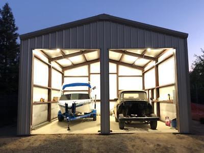 24x27x10 Steel Garage Building Kit