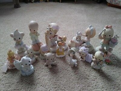 LOT OF 16 PRECIOUS MOMENTS FIGURINES- OLD/RETIRED/SPECIAL EDITIONS!