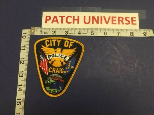 VINTAGE CITY OF CRAIG ALASKA  POLICE  SHOULDER PATCH   D006