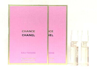 2x Chanel Chance Eau Tendre EDP Spray Perfume Samples 0.05oz / 1.5ml EACH NEW
