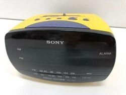 Sony Dream Machine Digital Alarm Clock Radio ICF-C111 Yellow