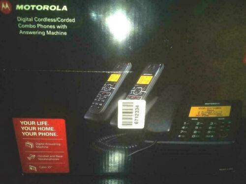 Motorola Combo Phones - 2 Cordless, 1 Corded + Answering Machine