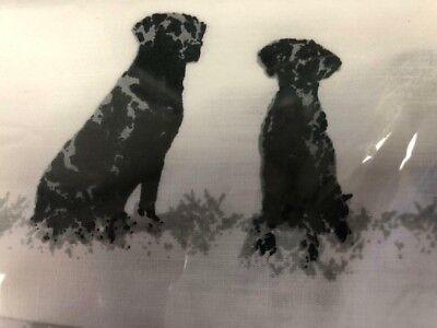 NEW! Eddie Bauer Black Labrador Lab Puppy Dog QUEEN Size Sheet Set 200TC