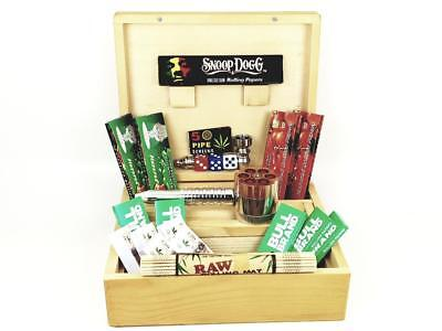 Deluxe Smoker (DELUXE GIFT SET LARGE WOODEN SMOKING SMOKERS ROLLING BOX)