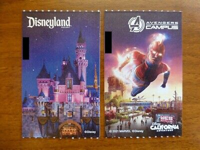 Two Disneyland Tickets 2-Day, 1-Park-Per-Day - Expire 6/15/2022 *Adult or child*