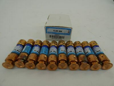 Box Of 10 Littelfuse Flnr 30a Time-delay Fuses 250v - New Surplus