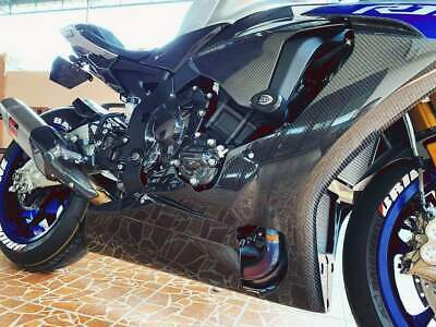 YAMAHA R1 R1M RACE BELLY PAN LOWER FAIRINGS GLOSSY TWILL | RPM Carbon