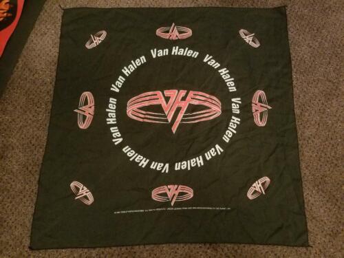 """VAN HALEN BANDANA 1995 ~ APPROXIMATELY A TAD OVER 20"""" X 20"""" - GREAT SHAPE!"""
