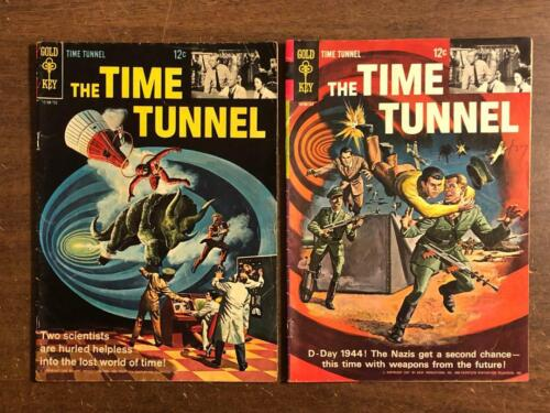 Time Tunnel #1 & 2 Gold Key Comics 1966 1967 TV Sci-Fi Comic
